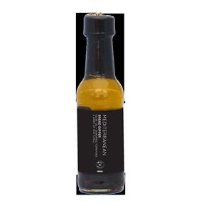 olivenolie med chili og soltørrede tomater, glasflaske med sort labels, lavet i New Zealand, kvalitetsolie, 150 ml