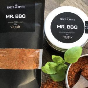 bbq krydderi i dåse med tilhørende refill pose